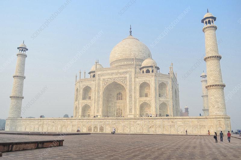 Taj Mahal mausoleum exterior view, India