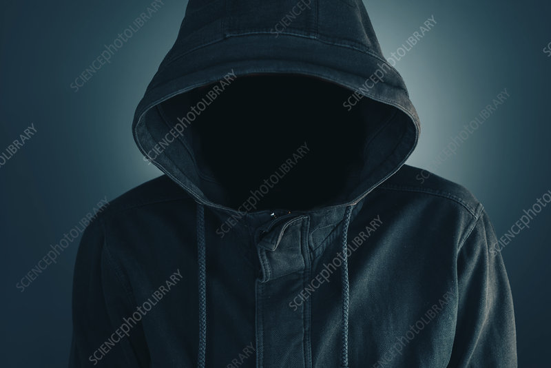 Faceless man with hoodie