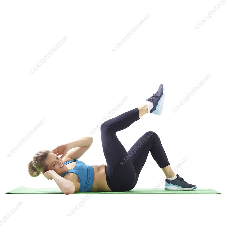 Woman doing lateral crunch