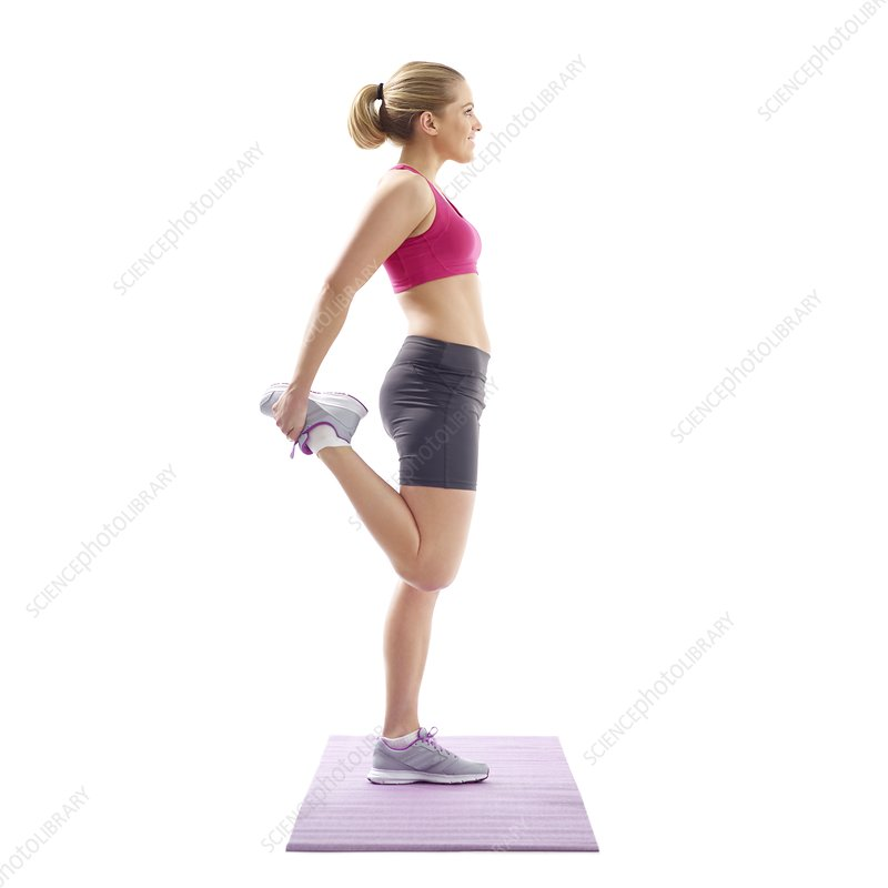 Woman stretching quad muscles