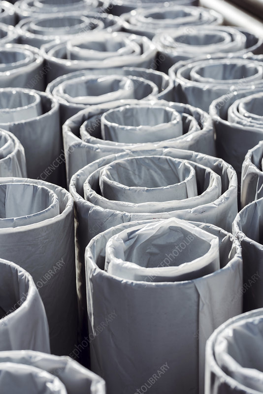 Industrial heat water pipes stack