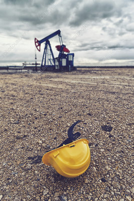 Oil pump and protective helmet