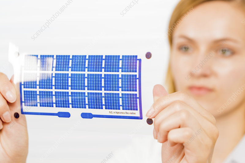 Solar cell printed on flexible film
