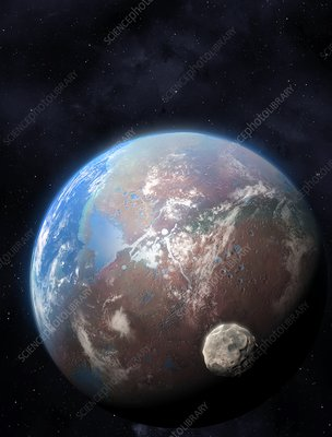 Ocean-covered planet, illustration