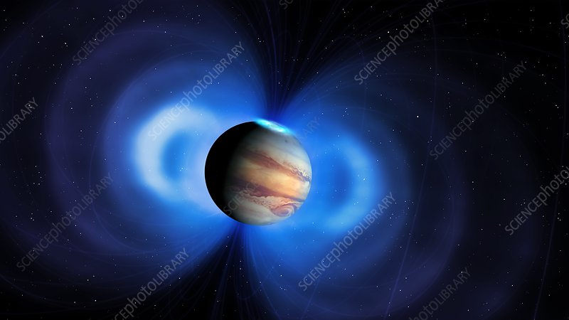 Jupiter's magnetosphere, illustration