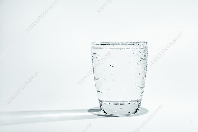 Glass of water with condensation