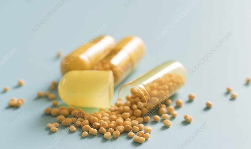 Open dietary supplement capsule
