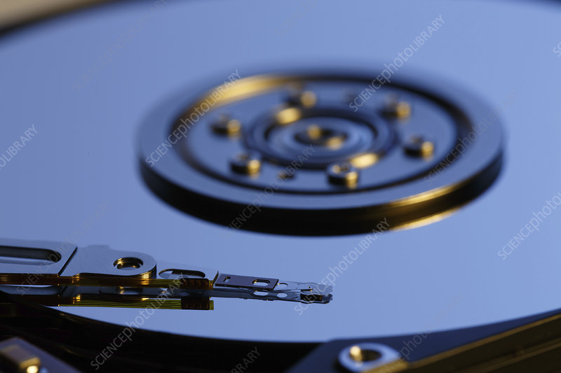 Open hard disk drive