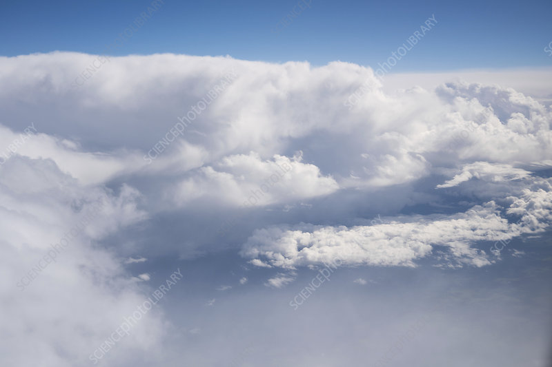 Clouds from aeroplane window