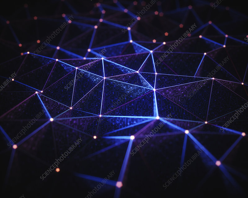 Abstract network of lines and dots, illustration