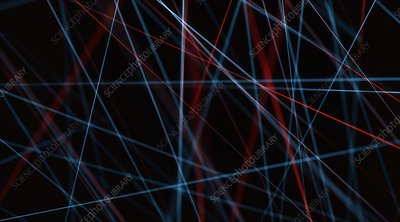 Abstract network of lines, illustration