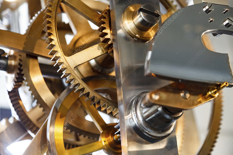 Clock mechanism with gears