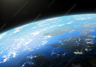 Illustration of Earth from Space