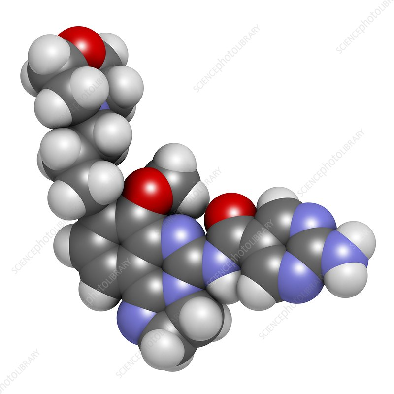 Copanlisib cancer drug molecule