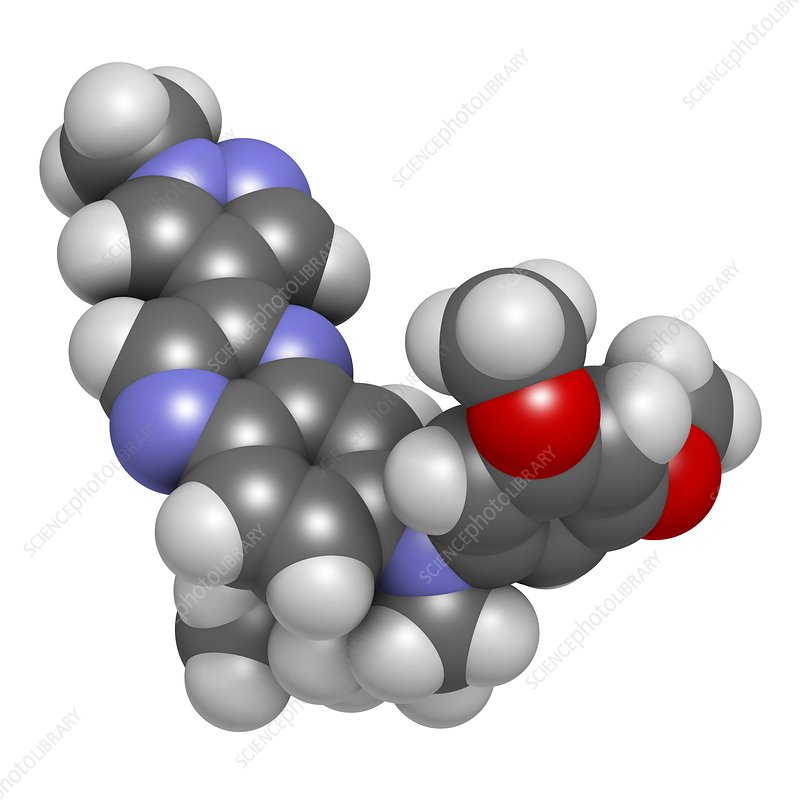 Erdafitinib cancer drug molecule