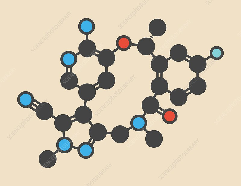 Lorlatinib cancer drug molecule