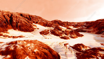 Morning on Mars, illustration