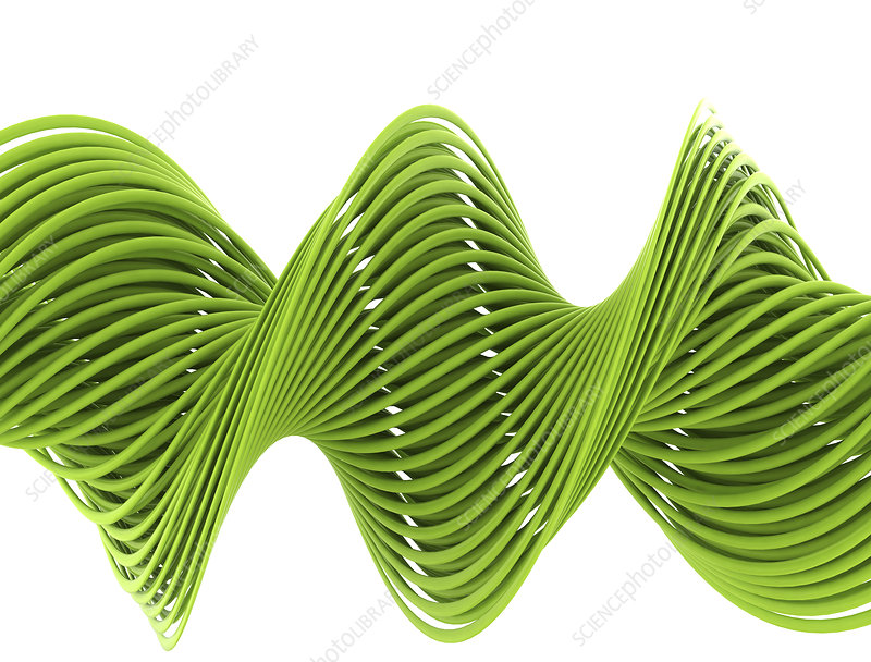 Green helix, illustration