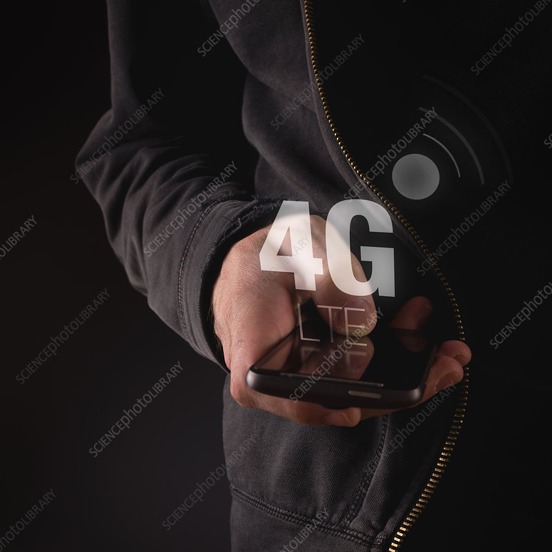 4G mobile phone network, conceptual image