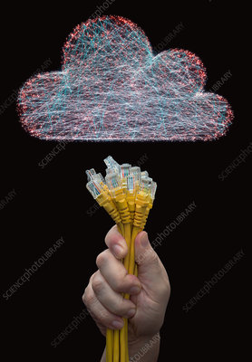 Cloud computing, conceptual image