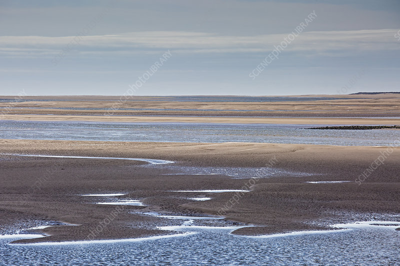 Tranquil sandy bay, Morecambe Bay, UK