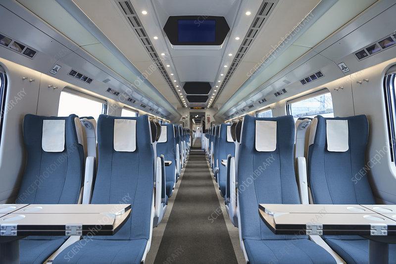 Seats in empty train