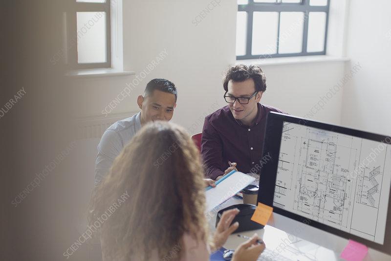 Designers working, brainstorming
