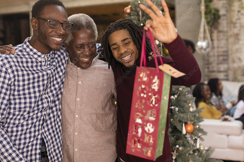 Grandsons surprising grandfather with gift