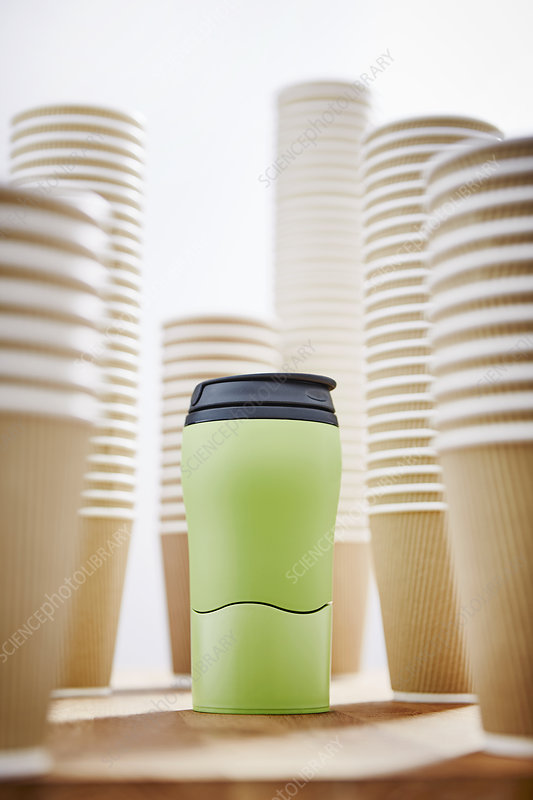Green insulated drink container