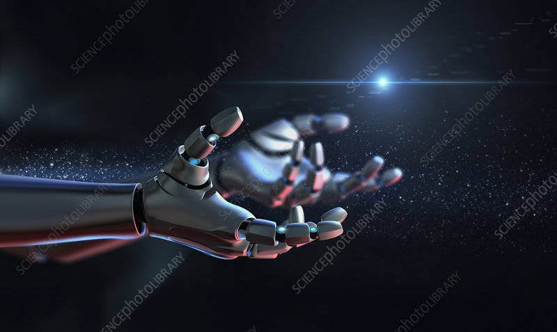 Illustration of robot arms outstretched