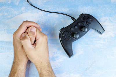 Resisting video game addiction, conceptual image