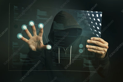 Hacking biometric security, conceptual image