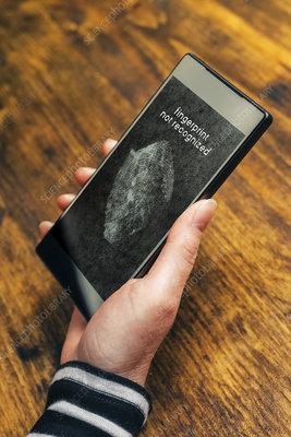 Biometric security on smartphone
