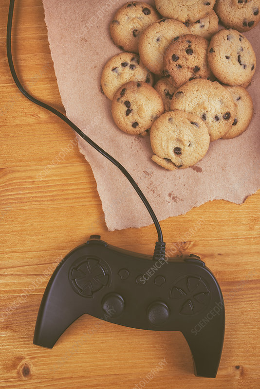 Gamepad controller with cookies