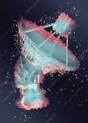 Satellite in space, illustration