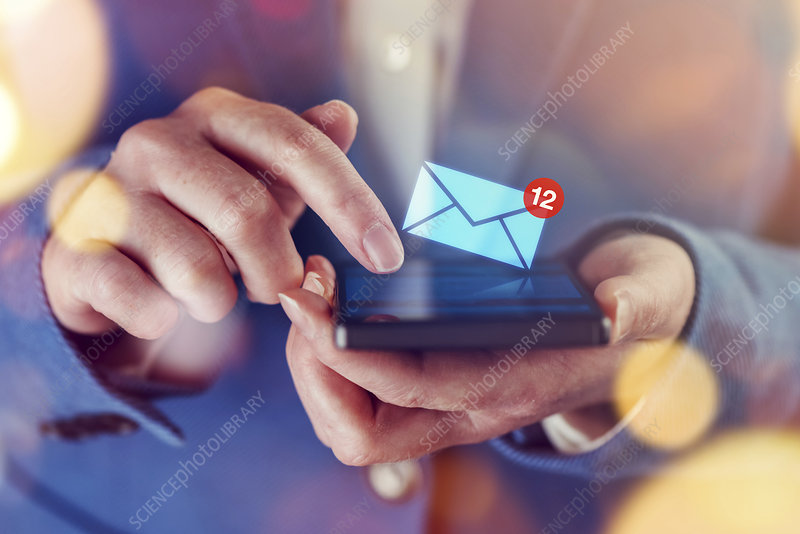 Email notification on smartphone