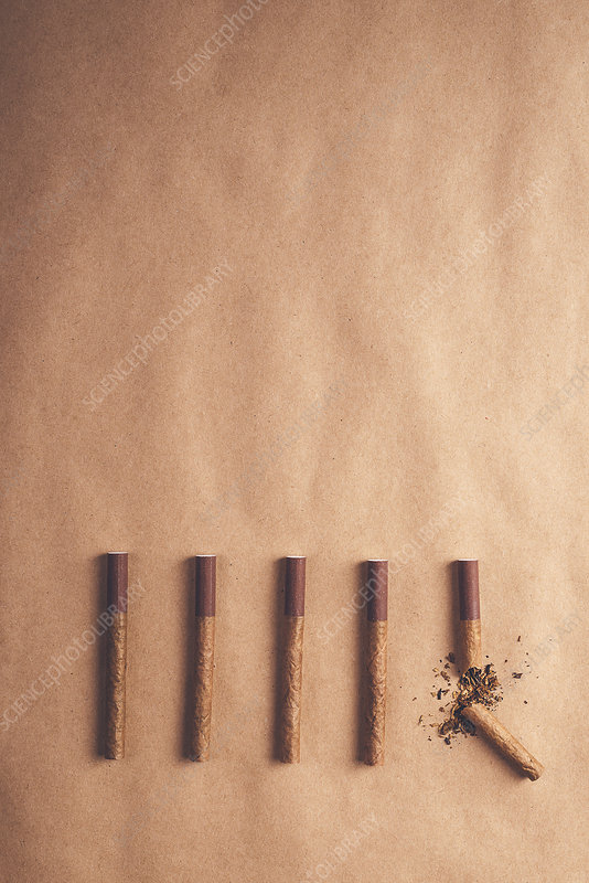 Quitting smoking, conceptual image