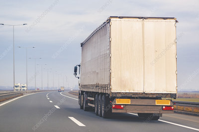 Lorry on motorway