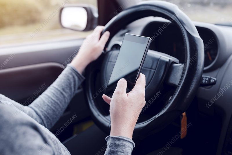 Driver using smartphone