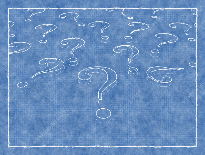 Question marks, illustration