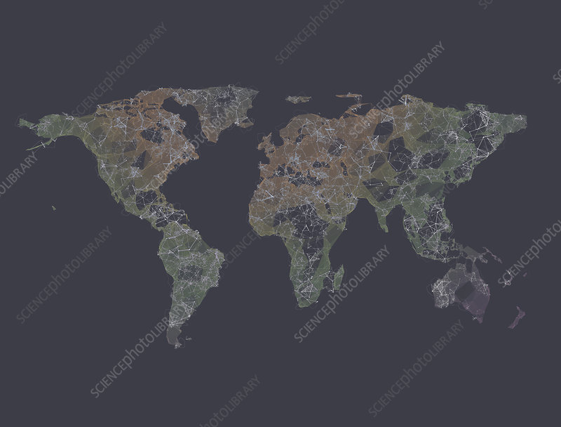 Global connectivity, illustration