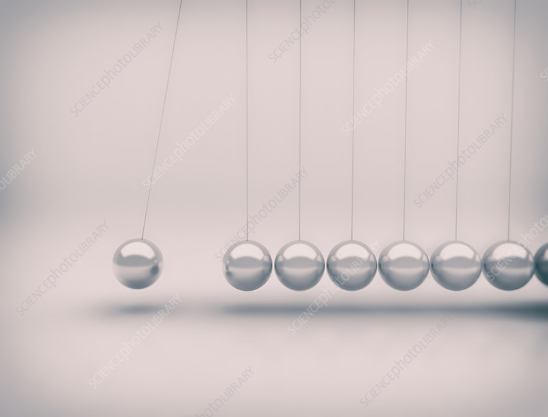Newton's cradle, illustration