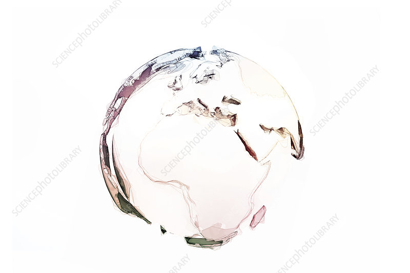 Earth with continents, illustration