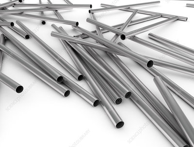 Metal pipes, illustration