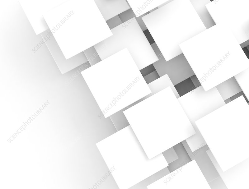 White squares, illustration