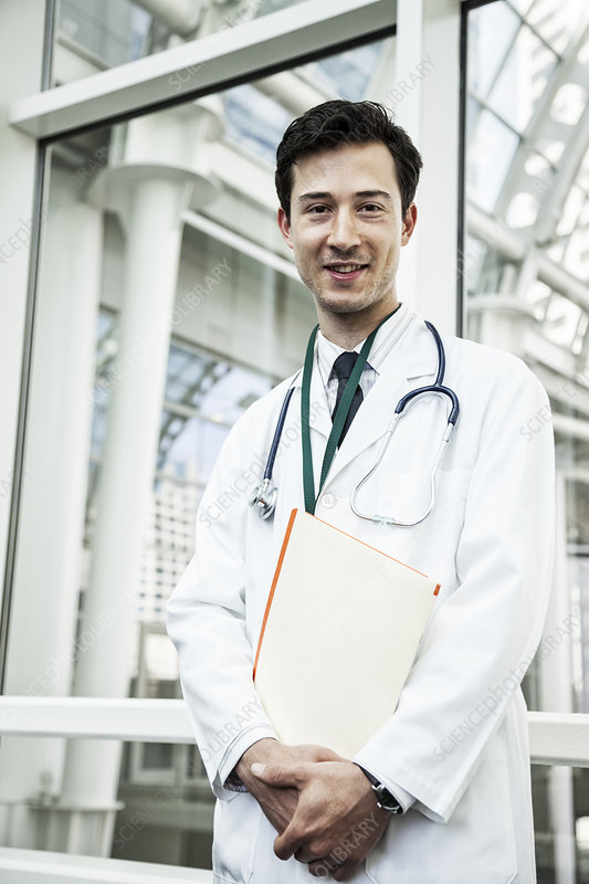A young male doctor