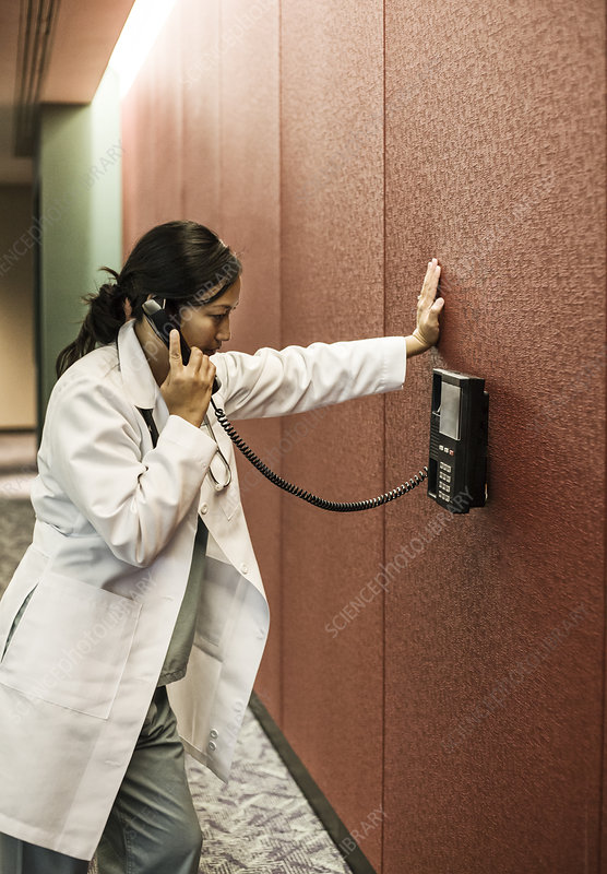 Doctor on phone