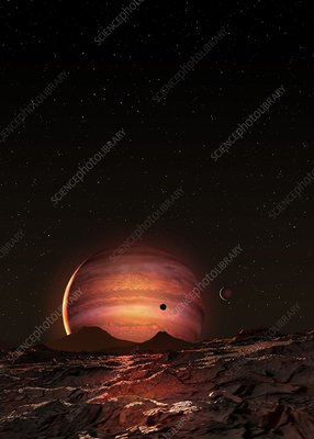 Exoplanet Pi Mensae b, illustration