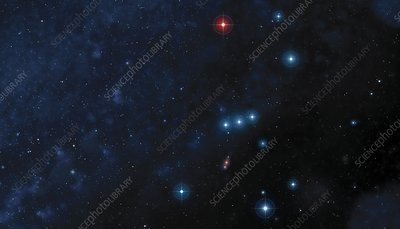 Orion constellation, illustration