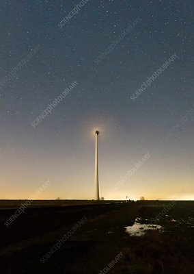 Wind turbines in the polder, Netherlands